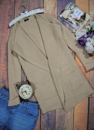 Мягкий кардиган цвета кемел f&f размер uk10 (s/m)  кофта накидка