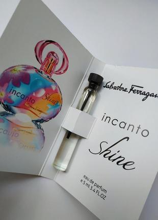 Очень стойкий парфюм, мини духи salvatore ferragamo incanto shine
