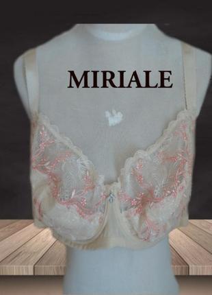 🌹🌹miriale eleganzia 110 d нежный бюстик для роскошной груди на косточках бежевый🌹🌹