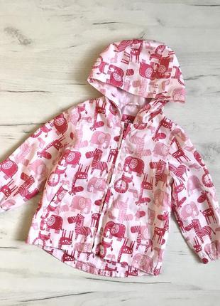 Ветровка куртка для девочки 1,5/3гtu,вітровка для дівчинки tu