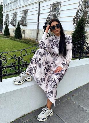 Zara платье с принтом «бэмби» из коллекции «истории disney»