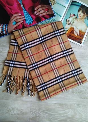 Мягкий шарф в стиле burberry