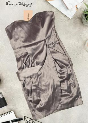 Платье под атлас miss selfridge