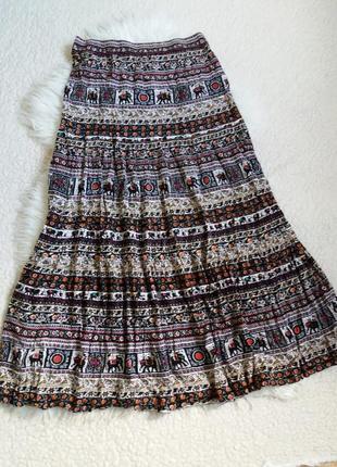 Вискозная юбка макси