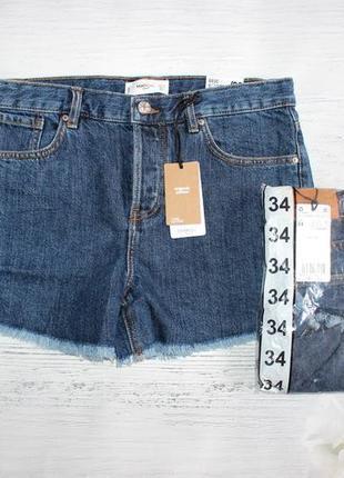 Трендові джинсові шорти з високою талією mango 34