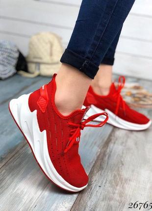 Кроссовки сеточка на шнуровке .