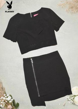 Комплект из топа и юбки playboy