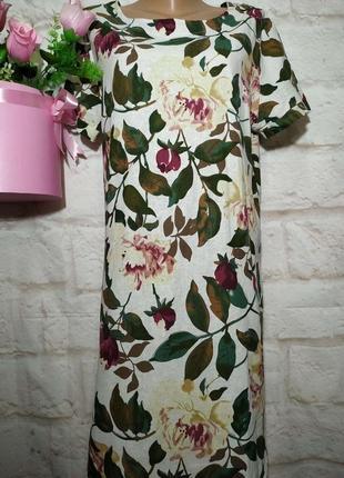 Платье=рубашка льняное р 14 турция турция