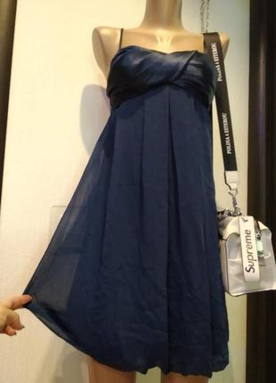 Стильное легкое мини платье сарафан коктейльное