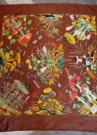 Платок винтажный gucci v. accornero(оригинал)