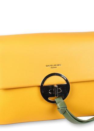 Стильный клатч david jones в желтом цвете