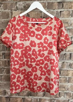 Шовк!! блуза оригінал marc cain, розмір хл
