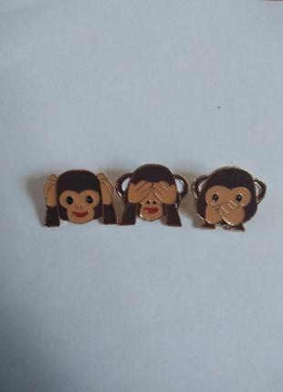 Набор значков пинов пин значок брошь брошка значки обезьяны