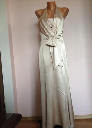 Вечернее фирменное длинное платье/s/ brend karen milken