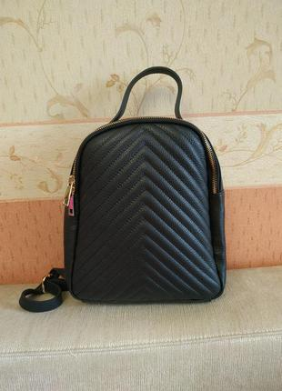 Рюкзак кожаный шанель