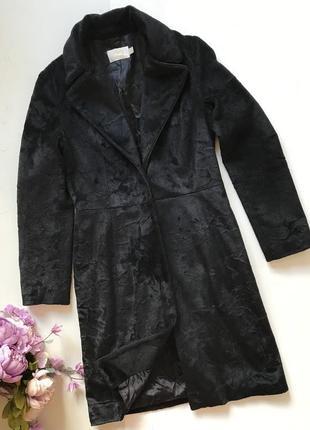 Меховое двубортное пальто mango m l