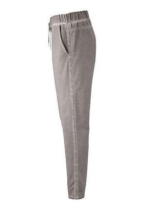Стильные повседневные комфортные плотные брюки с лампасами от tchibo, р. 36евро=46-48 наш