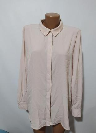 Блузка рубашка кремовая