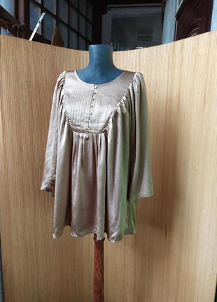 Шелковая блуза на пуговицах натуральный шелк imitz