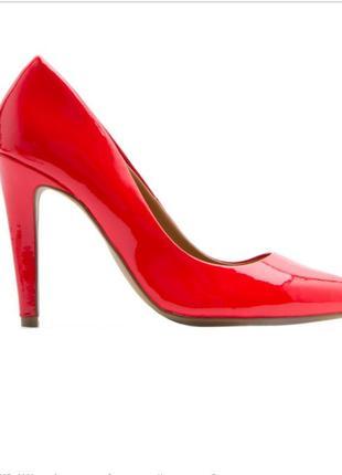 Красные лодочки туфли