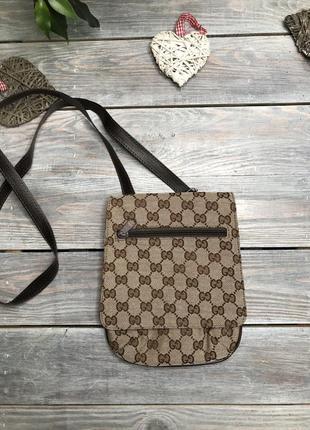 Gucci удобная сумочка на длинном ремешке