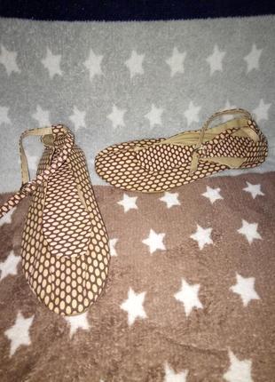 Тканевые туфли балетки
