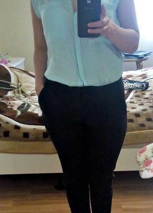 Блузка блуза легкая прозрачная с воротником