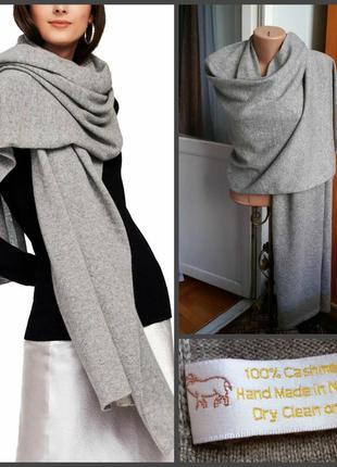 Большой кашемировый шарф ручная работа непал 100% кашемир