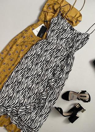 Шикарное платье халат / сарафан миди на запах topshop