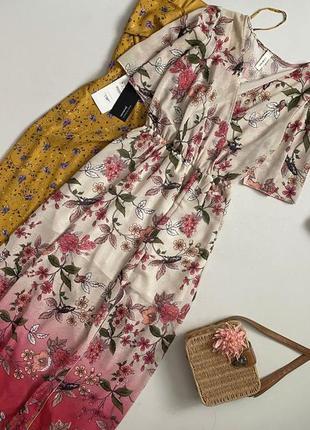 Красивейшее цветочное платье миди lumina
