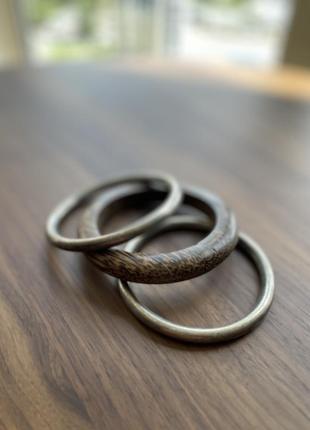 Браслеты accessorize металлические и деревянный 3 штуки