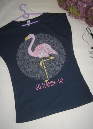 Футболка розовый фламинго. есть модели