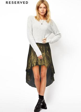 Золотистая асимметричная юбка reserved