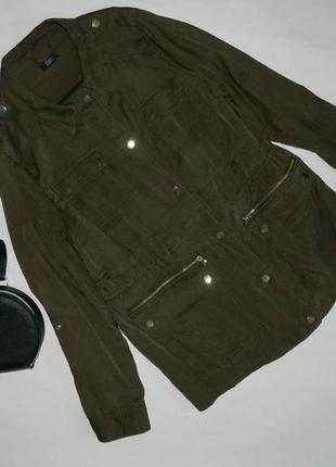 Стильный пиджак\ парка \ тренч цвета хаки