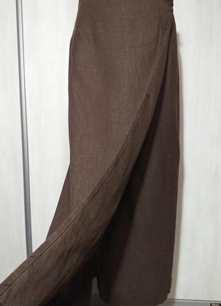 Дизайнерская длинная льняная юбка с запахом от klaus thierschmidt