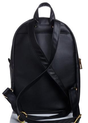 Женский городской черный рюкзак, экокожа
