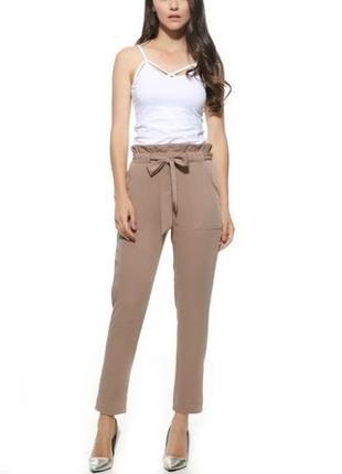 Серые летние брюки штаны на талии asos