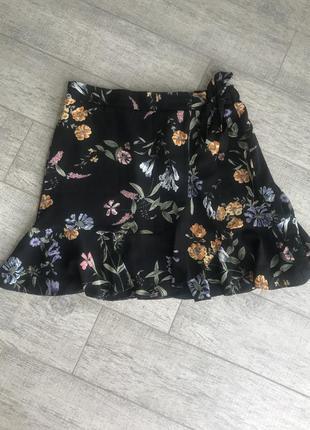 Юбка на запах, шифоновая юбка