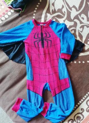 Слип, человек, пижама, для мальчика. челавек паук.spider man 5 - 6 лет