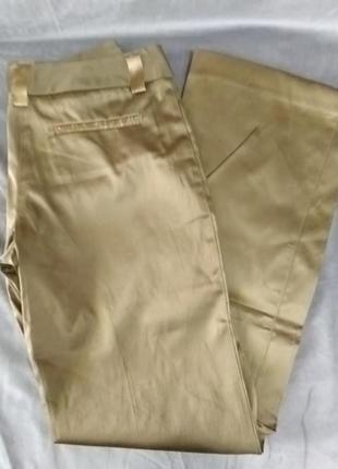 Жіночі золотисті атласні штани, європейський розмір 36