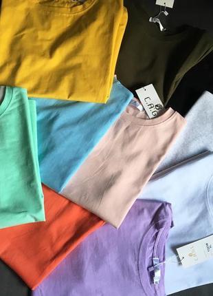 Стильная хлопковая футболка любые 2 за 440 грн