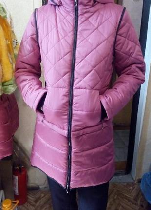 Пальто, куртка  детская  трансформер для девочки