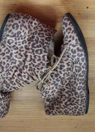 Ботиночки с леопардовым принтом
