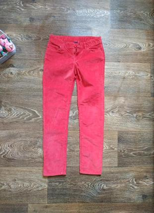 Ярко красные узкие брюки