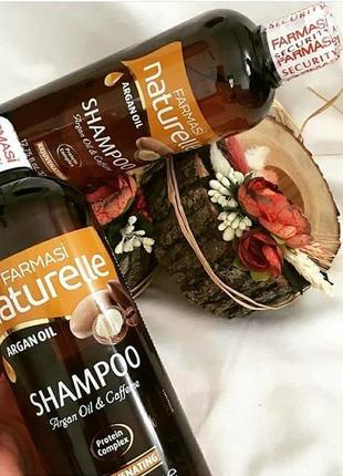Шампунь для волос naturelle argan oil с аргановым маслом и кофеином