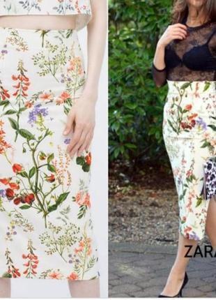 Джинсовая юбка миди карандаш # sale # zara