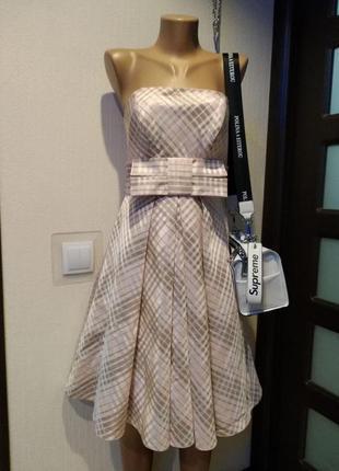 Крутое коктейльное мини платье сарафан