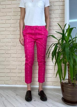 Розовые брюки катоновые