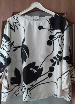 Alysi   m-l  брендовая шелковая блуза-разлетайка