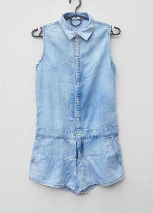 Джинсовые летние шорты комбинезон ромпер